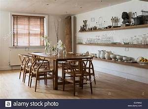 Large Farmhouse Dining Table With Wooden Chairs In Stylish