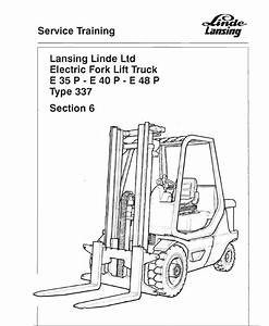 Linde Series 337 Electric Counterbalance Truck  E35  E40