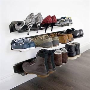 Rangement Chaussures Original : rangement chaussures sur rail ~ Teatrodelosmanantiales.com Idées de Décoration