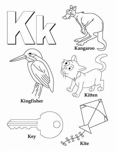 Coloring Letter Pages Things Alphabet