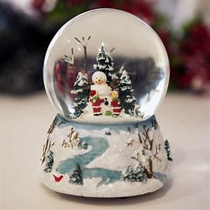 Glass Christmas Snowball with Carillion E Pozzi