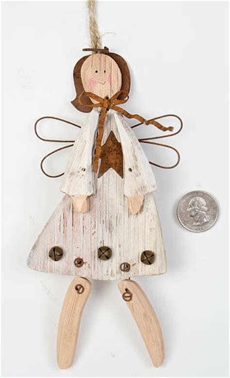 Rustic Wood Angel Ornament Christmas Ornaments