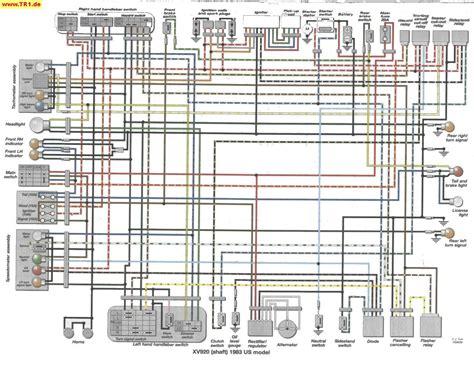 Vstar Wiring Diagram by Tr1 Xv1000 Xv920 Wiring Diagrams Manfred S Tr1 Page