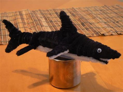 pipe cleaner crafts animals diy shark animal cleaners craft hative projects egg source creations