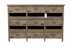Meuble Semainier Chiffonnier : meuble semainier chiffonnier grainetier bois 12 tiroirs ~ Teatrodelosmanantiales.com Idées de Décoration
