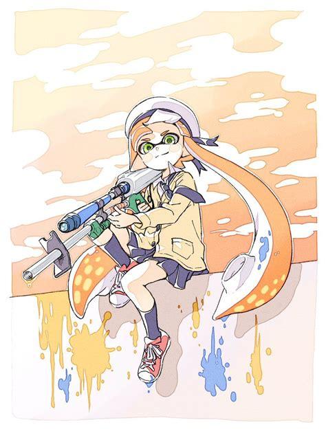 こま On Splatoon Nintendo Splatoon Video Game Art Anime