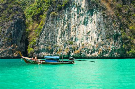 free picture boat cliff water tourist sea vacation