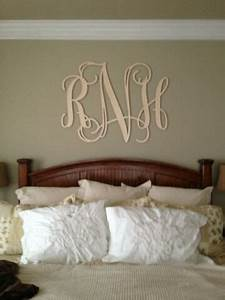 best 25 monogram above bed ideas on pinterest bedroom With monogram letters over bed