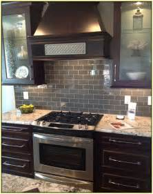 gray subway tile kitchen backsplash home design ideas