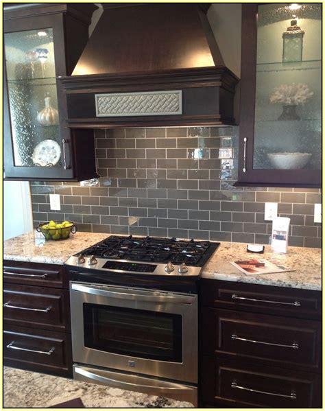 gray glass tile kitchen backsplash gray glass subway tile backsplash home design ideas 6904