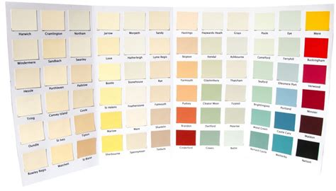 interior paint color chart