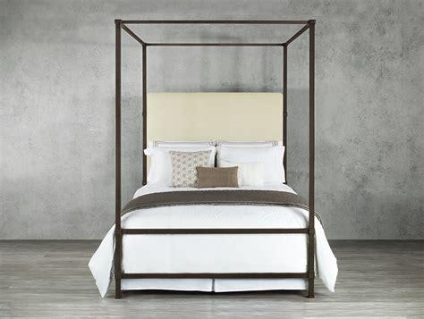 quincy iron canopy bed  wesley allen sleepworks