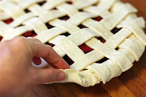 how to make a pie how to make a lattice top for a pie crust simplyrecipes com