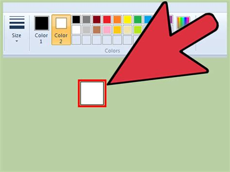 microsoft paint color eraser how to make a eraser bigger in ms paint on windows 7 laptop
