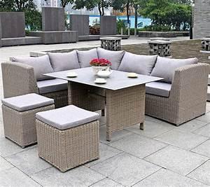 Lounge Set Mit Esstisch : zebra tara dining lounge couch ecke tisch 130x90cm art jardin ~ Bigdaddyawards.com Haus und Dekorationen