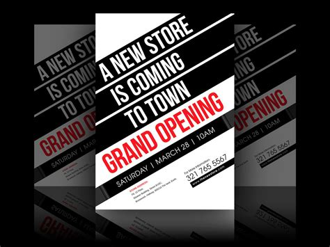 9+ Grand Opening Flyer Designs & Examples