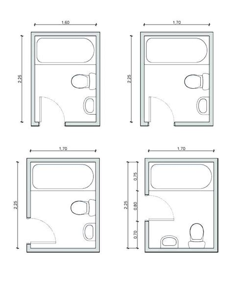 Bathroom Floor Plans by 8x8 Bathroom Floor Plans Intended For Bath In 2019