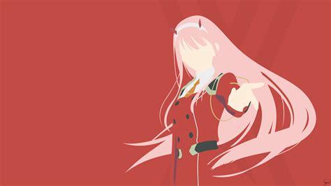 darling   franxx    red background  hd