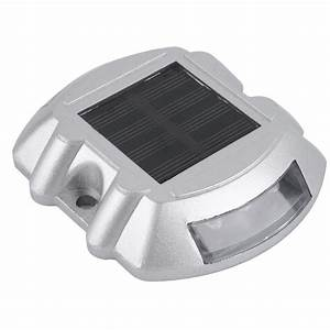 outdoor waterproof 6 led solar power path stud garden road With outdoor solar lights for docks