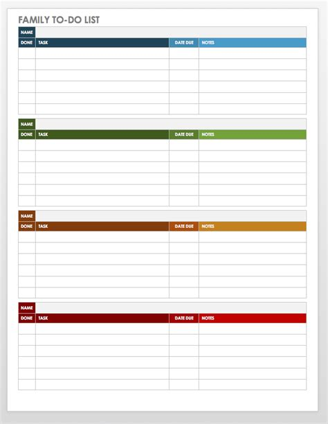 Todo Task List Word Template by Free Task And Checklist Templates Smartsheet