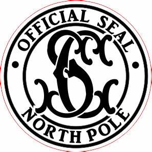 christmas official seal northpole monogram d2 wax With santa letter with wax seal