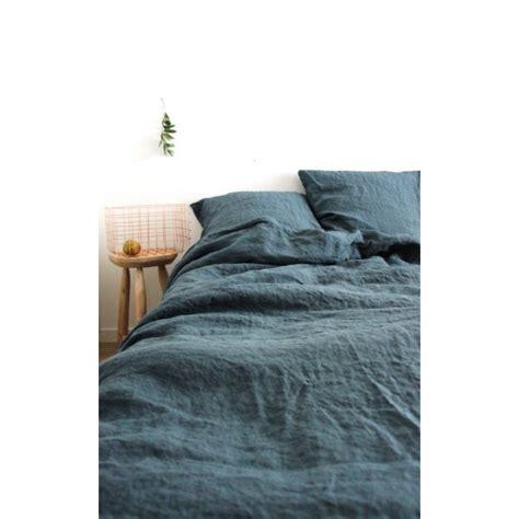 housse de couette en lave bleu gris washed 240x220cm