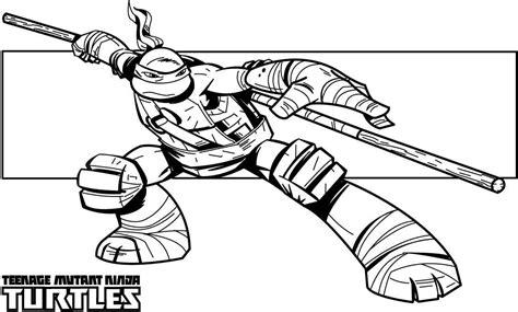 teenage mutant ninja turtles coloring pages donatello