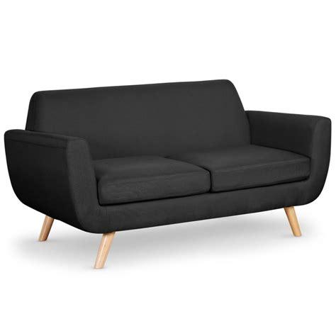 canapé 2 places noir canapé 2 places scandinave quot miramas quot 160cm noir