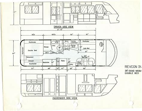 Gmc Motorhome Royale Floor Plans by 1976 Gmc Motorhome Floor Plans