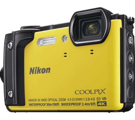 nikon coolpix compact buy nikon coolpix w300 tough compact yellow