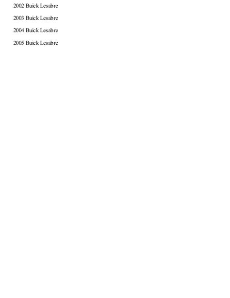 chilton car manuals free download 2002 buick lesabre spare parts catalogs 1997 buick lesabre repair manual online