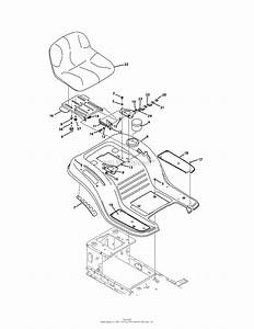 Mtd 13aj795s059  2011  Parts Diagram For Seat  U0026 Fender