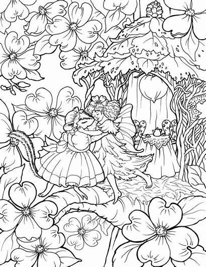 Coloring Fairy Dance Mouse Colorear Dibujos Rocks