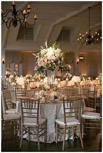 gold ivory and white wedding reception decor with white With white and gold wedding decor