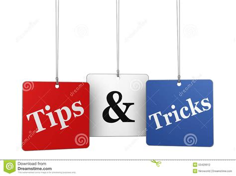 Tipps Tricks by Tips And Tricks Web Tags Stock Photo Image Of Happy