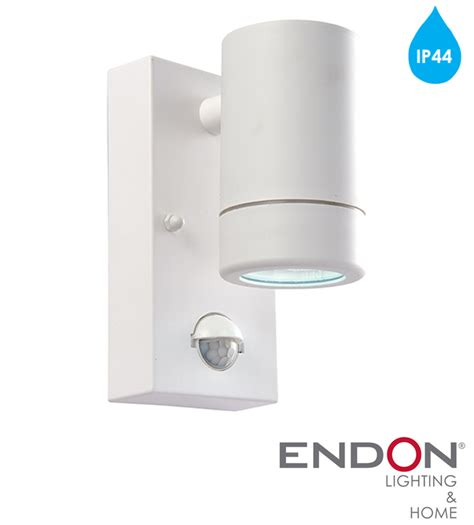 endon icarus pir ip44 led 1 light outdoor wall light