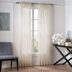 buy valeron sheer 108 inch window curtain panel in linen from bed bath beyond
