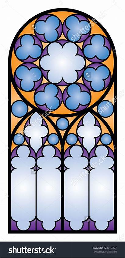 Stained Glass Window Clipart Clip Gothic Vector