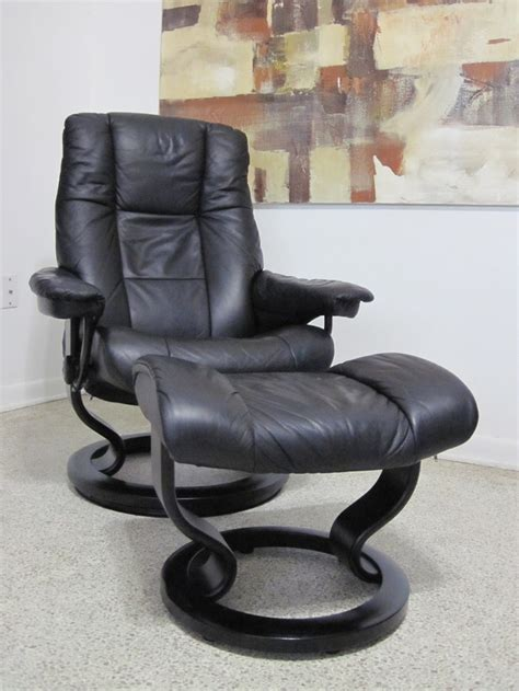 ekornes stressless recliner chair leather modern small