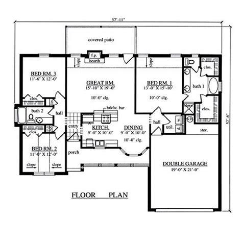 3 bedroom floor plans with garage 1504 sqaure 3 bedrooms 2 bathrooms 2 garage spaces 57