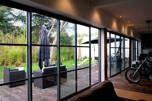 baie vitre galandage awesome quel est le prix de pose With porte de garage avec baie coulissante À galandage