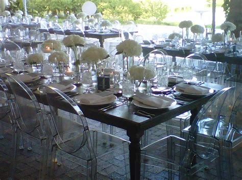 wedding tables and chairs farm table and ghost chair chicago botanic garden weddings