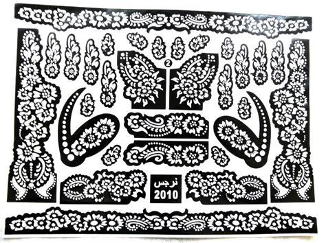 henna schablonen henna schablone zahraa