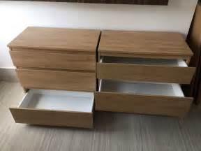 near new ikea kullen chest of 3 drawers x 2 in ealing