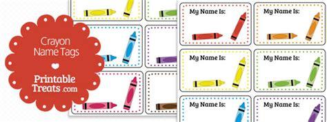 printable crayon  tags printable treatscom