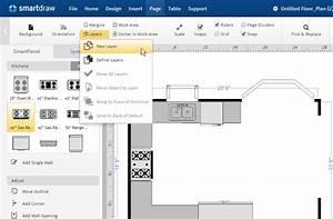 Advanced floor plan tutorial creating layers for Smartdraw tutorial floor plan