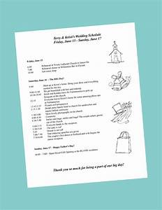 Putting together your wedding day itinerary for Bridal shower itinerary template