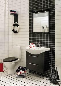 Salle De Bain Carrelage Noir : carrelage salle de bain noir et blanc duo intemporel ~ Dailycaller-alerts.com Idées de Décoration