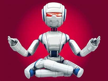 Robot Meditating Ai Technology Freevector Graphics Uidownload