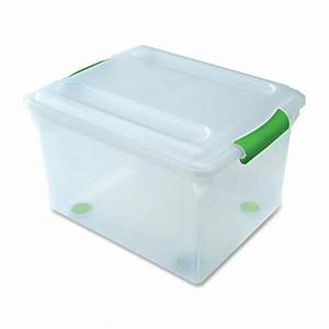 plastic document box portable a4 file box transparent With plastic document storage containers